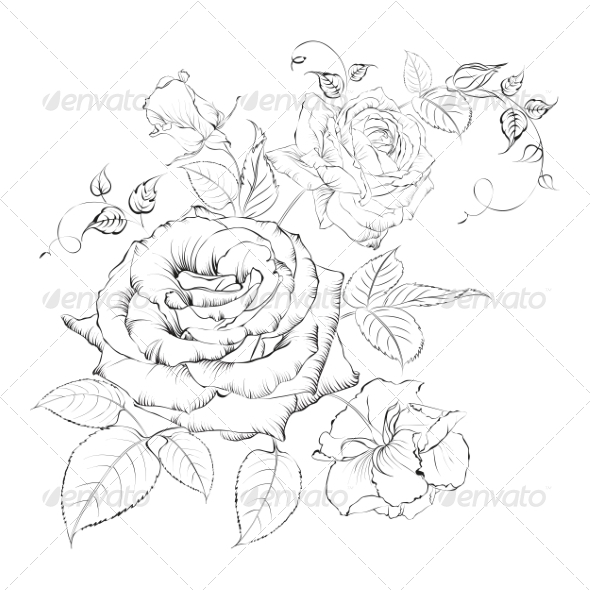 Bouquet of Roses. - Valentines Seasons/Holidays