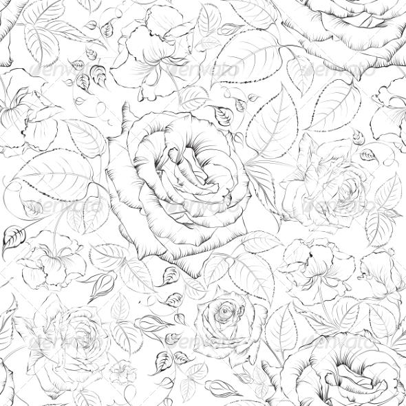 Rose Seamless. - Valentines Seasons/Holidays