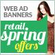 Retail Spring Offer Web Ad Marketing Banners - GraphicRiver Item for Sale