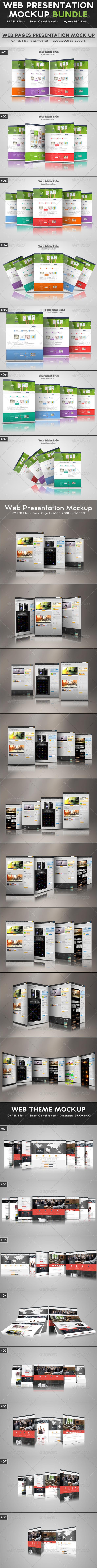 Web Presentation Mockup Bundle - Website Displays