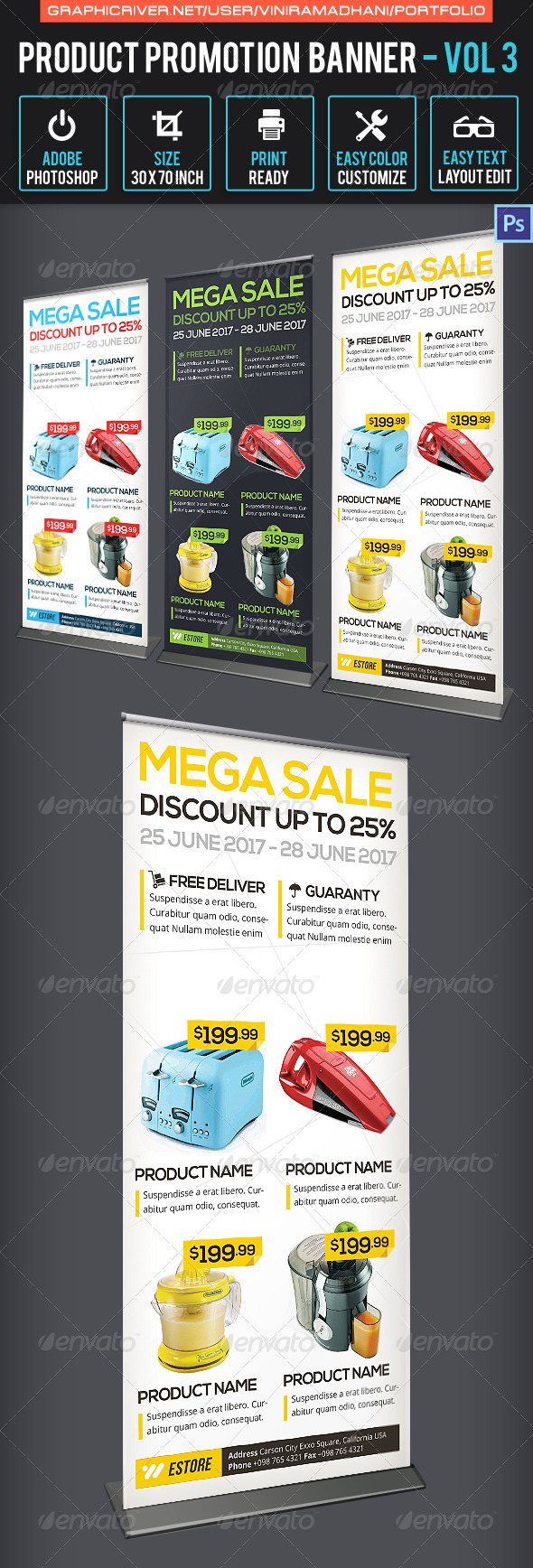 Product Promotion Banner | Volume 3 - Signage Print Templates