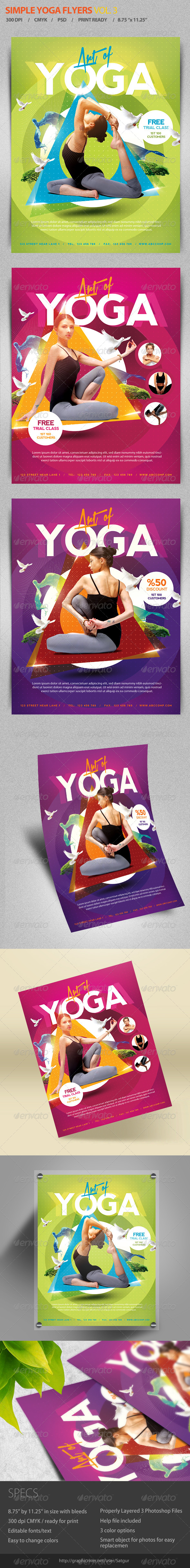 Simple Yoga Flyer Template V3 - Events Flyers