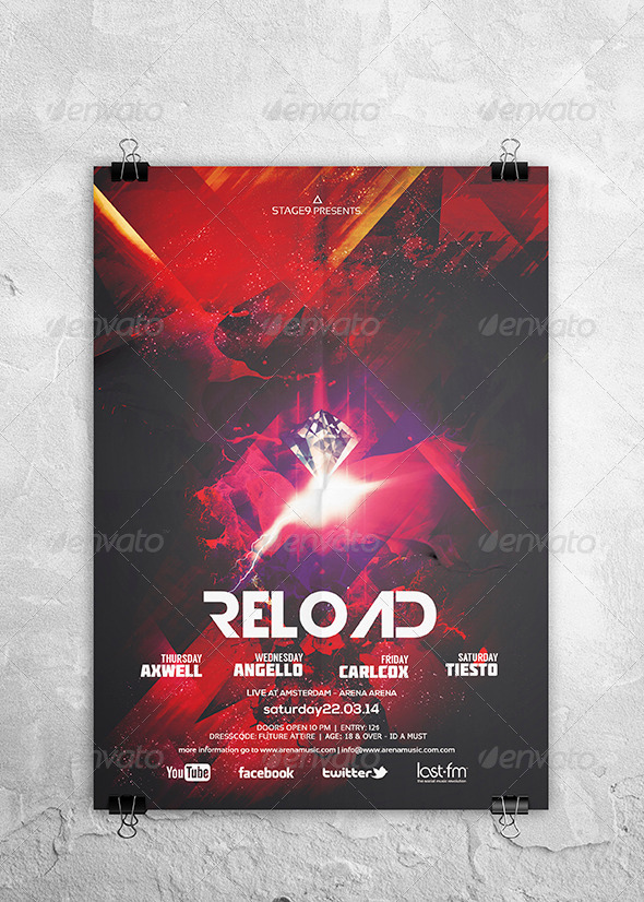 Reload Flyer / Poster - Clubs & Parties Events