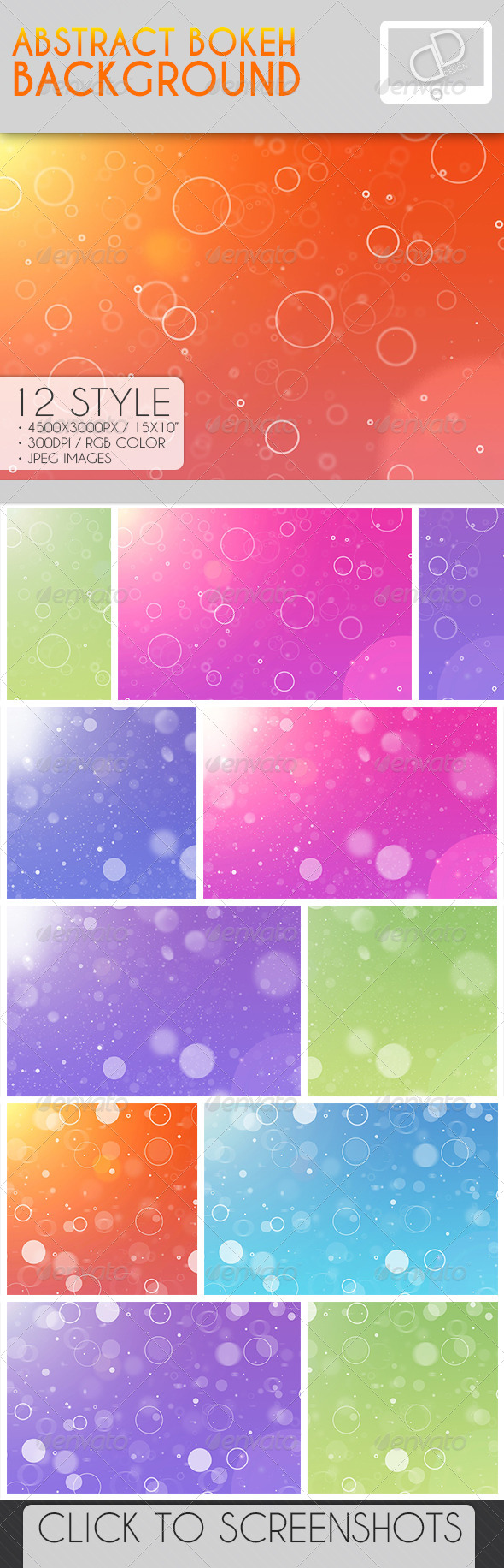 Color Bokeh Background - Abstract Backgrounds