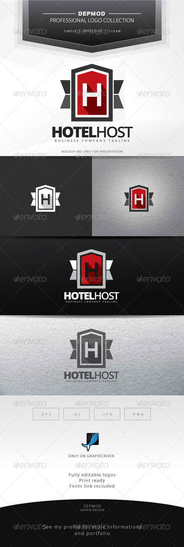 Hotel Host Logo - Letters Logo Templates