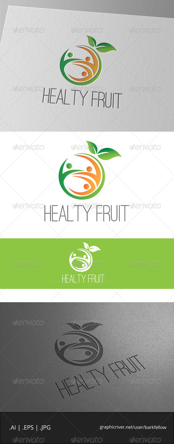 Healty Fruite Logo - Food Logo Templates