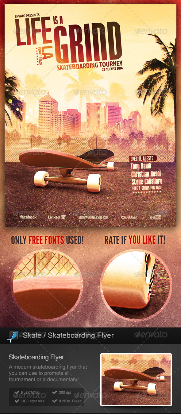 Skate / Skateboarding Flyer - Sports Events