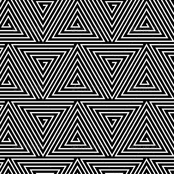 Hypnotic Background Seamless Pattern - Web Technology