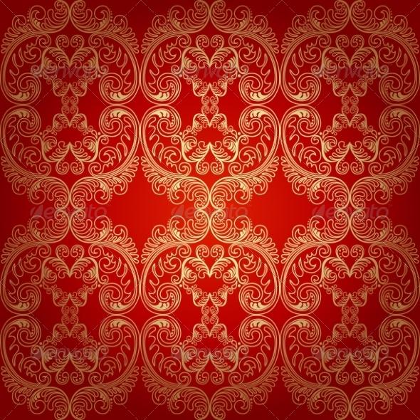 Seamless Pattern Background Damask Wallpaper - Patterns Decorative