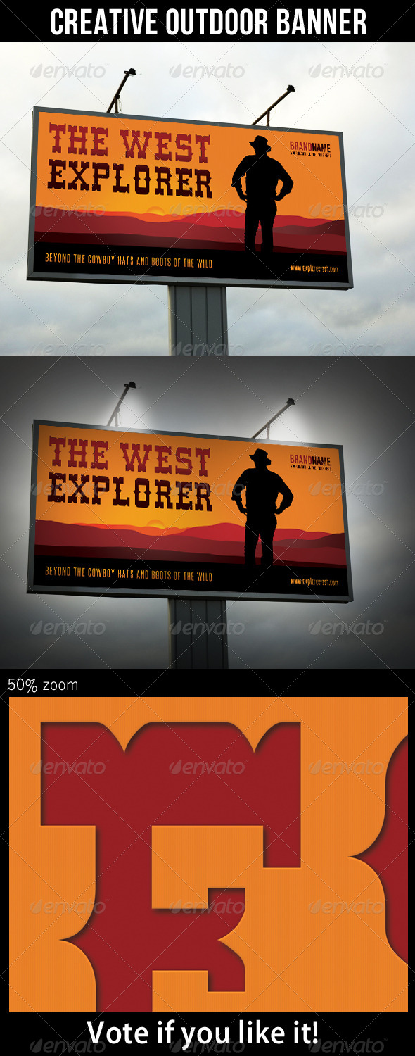 Explore The West Outdoor Banner - Signage Print Templates