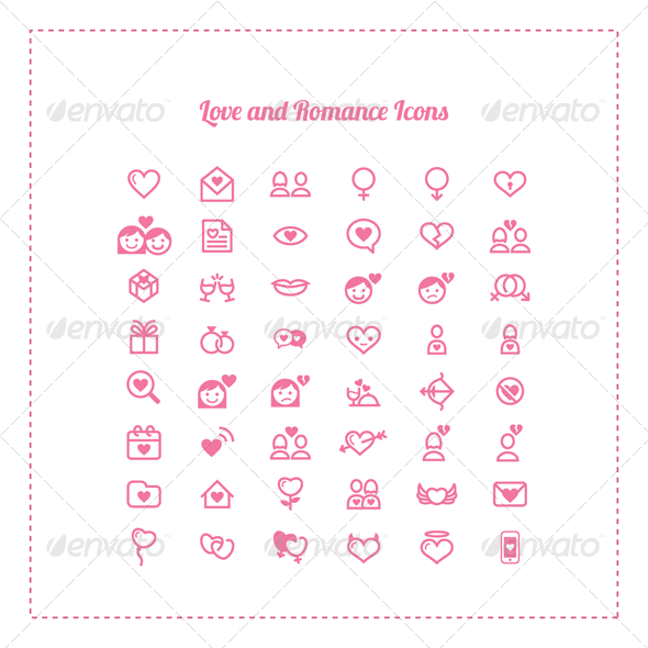 48 Love and Romance Icons - Icons
