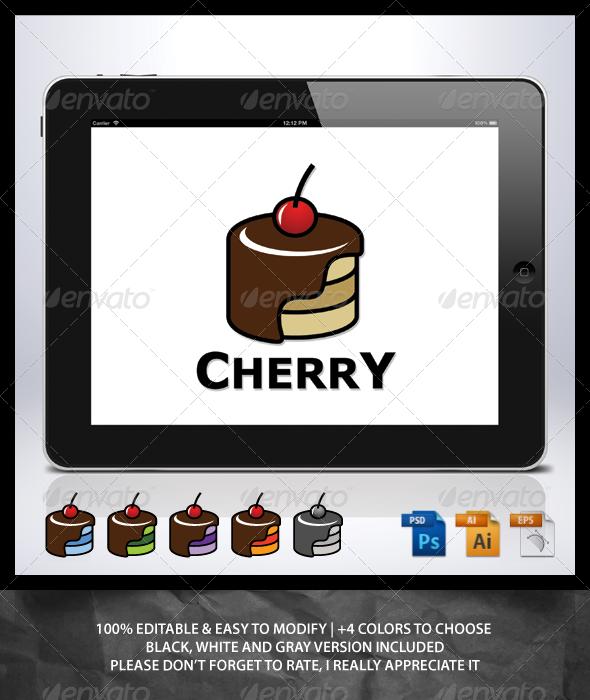 Cherry Cake Logo - Food Logo Templates