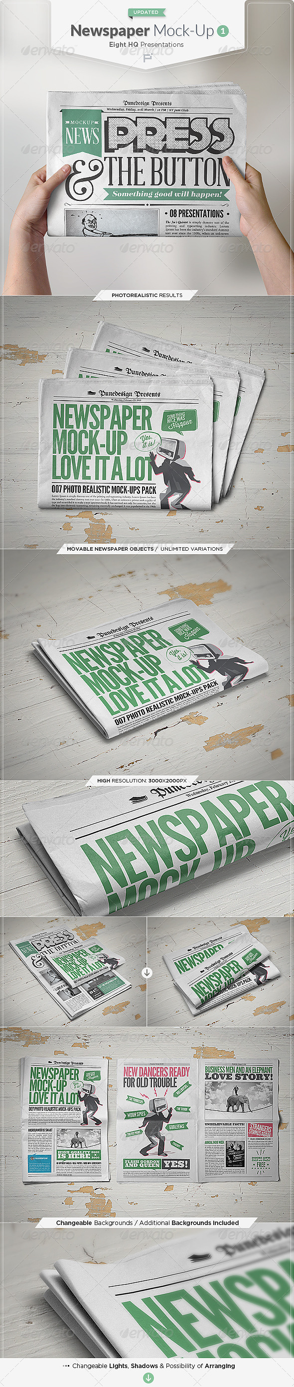 Newspaper Mock-Up - Miscellaneous Print