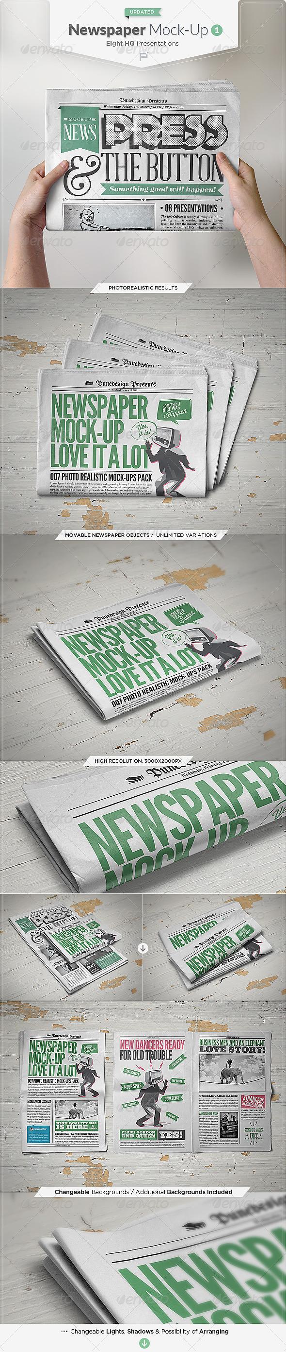 Newspaper Mock-Up - Miscellaneous Print