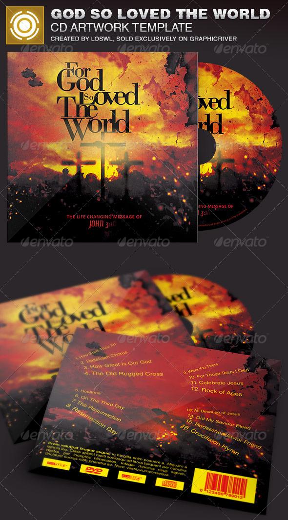 God So Loved The World CD Artwork Template - CD & DVD Artwork Print Templates