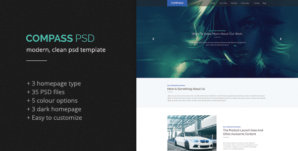 Compass PSD Template - Creative PSD Templates