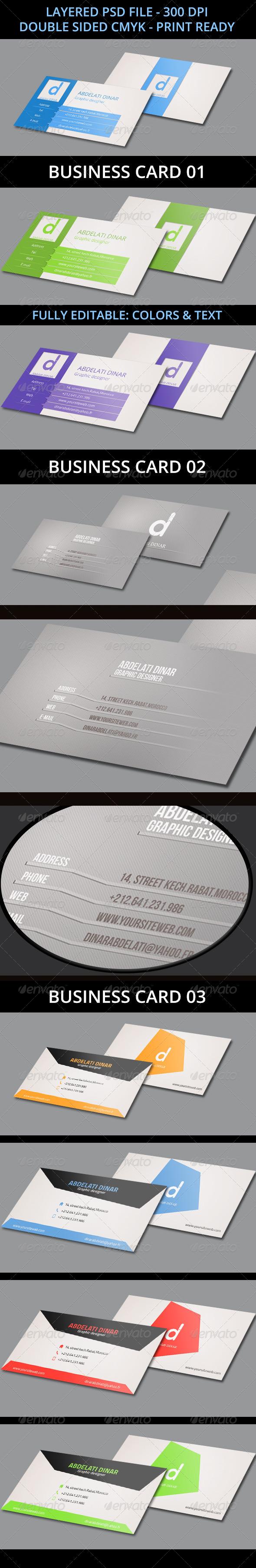 3 Business Cards Bundle - Business Cards Print Templates