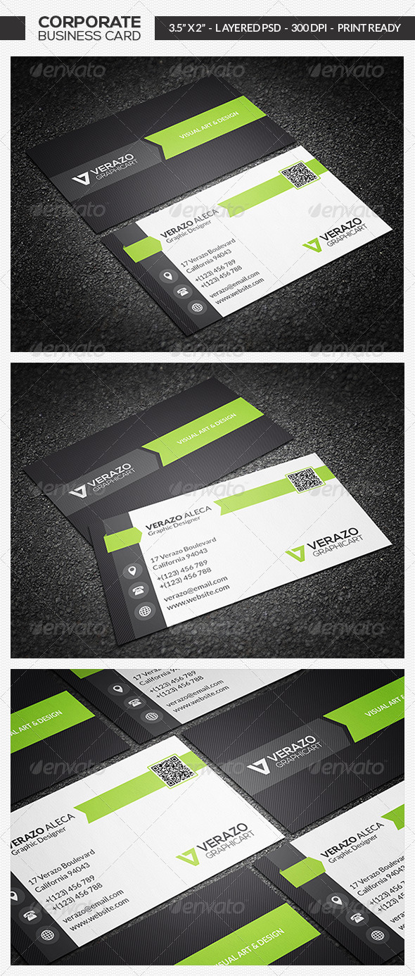 Corporate Business Card 03 - Corporate Business Cards