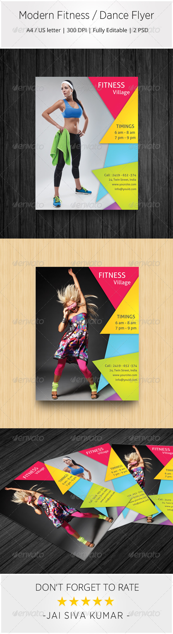 Modern Fitness / Dance Flyer - Sports Events