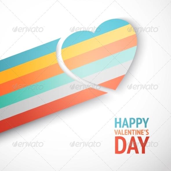 Rainbow Heart - Valentines Seasons/Holidays