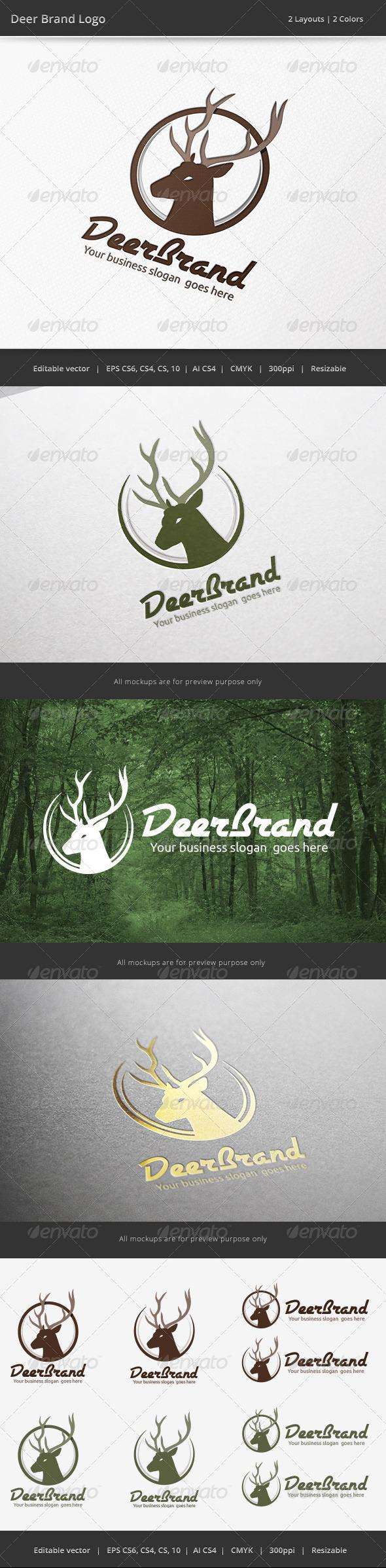 Deer Brand Logo - Animals Logo Templates