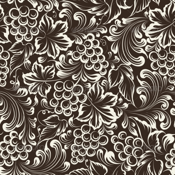 Vine Seamless Background - Backgrounds Decorative