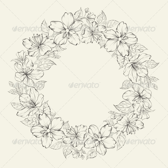 Floral Wreath Wedding Design - Flowers & Plants Nature