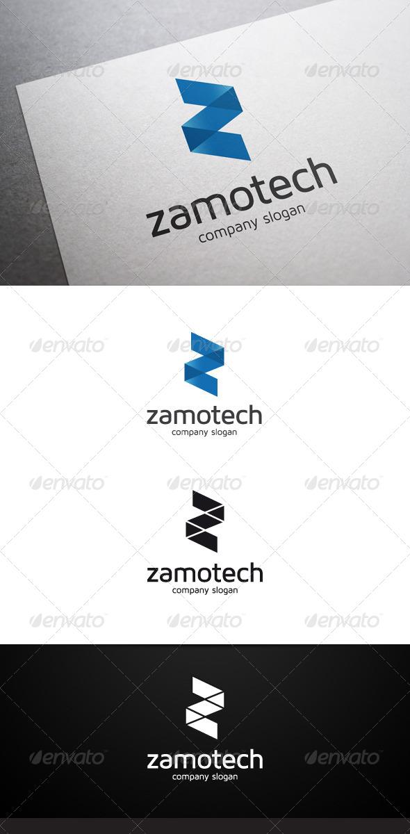 Zamotech Z Letter Logo - Letters Logo Templates