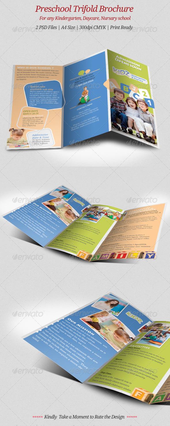 Preschool Trifold Brochure  - Brochures Print Templates