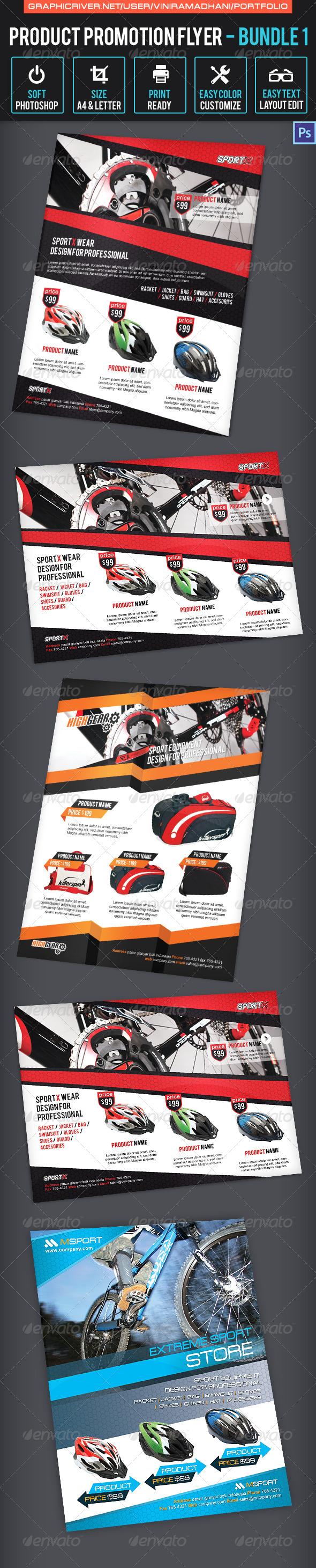 Product Promotion Flyer Bundle 1 - Commerce Flyers
