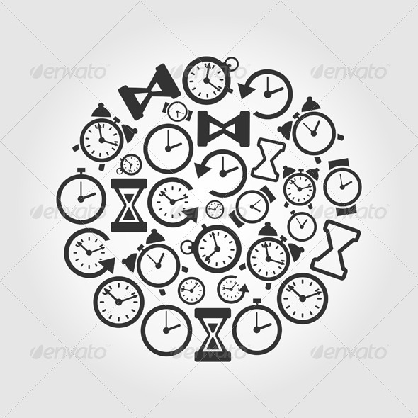 Hours Circle - Miscellaneous Vectors