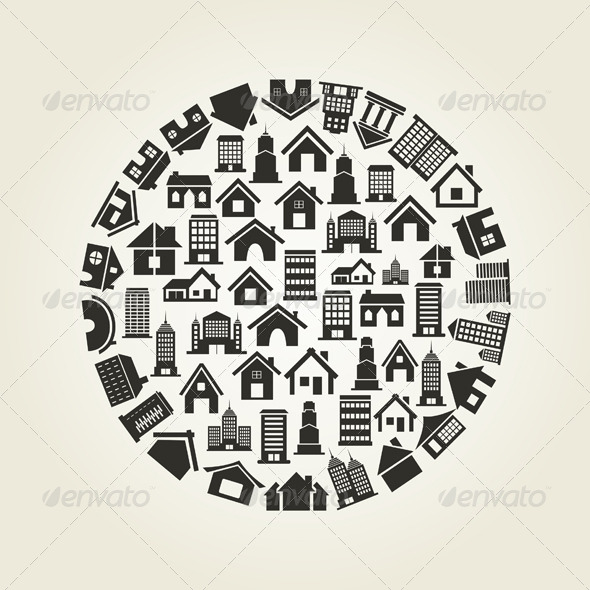 House Circle - Buildings Objects