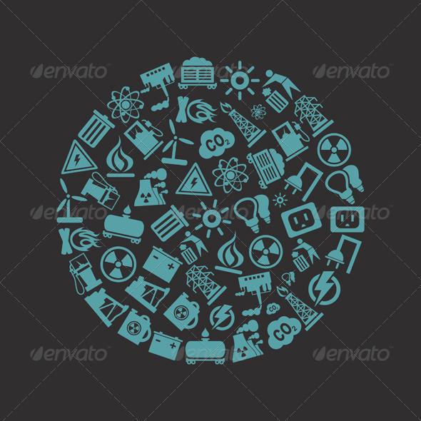 Industry Circle - Miscellaneous Vectors