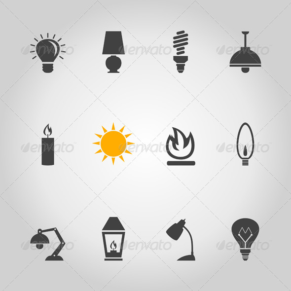 Light Icon - Miscellaneous Vectors