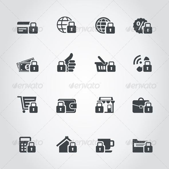 Lock Icons - Web Elements Vectors