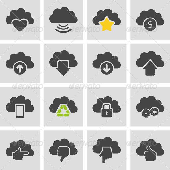 Cloud Set - Miscellaneous Vectors