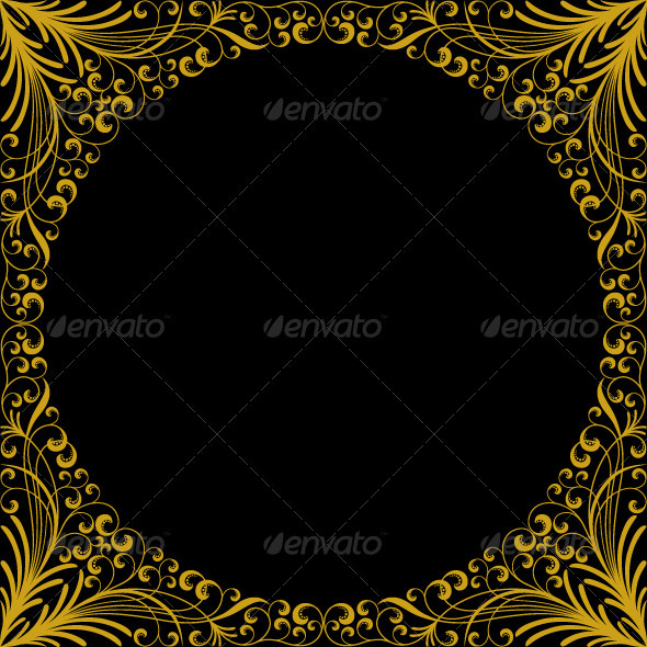 Vintage floral frame - Borders Decorative