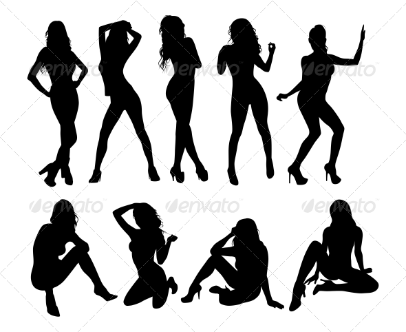 Girls Silhouette - People Characters
