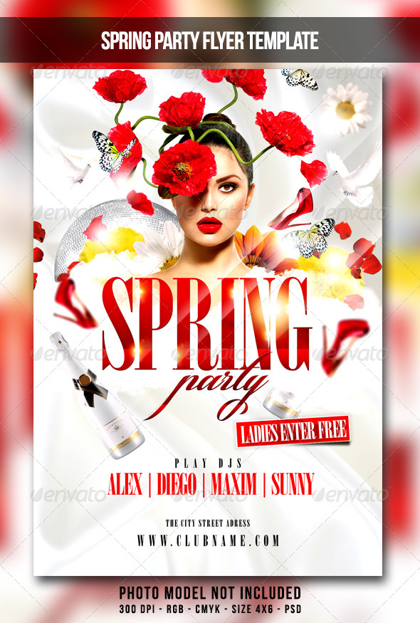 Spring Party Flyer By Maksn  Graphicriver