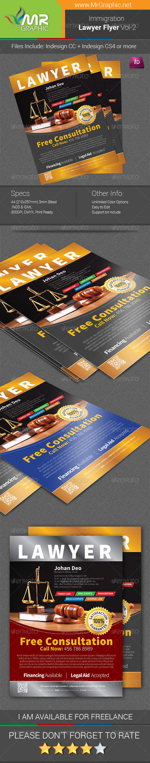 Immigration Law Flyer Template Vol-2 - Corporate Flyers