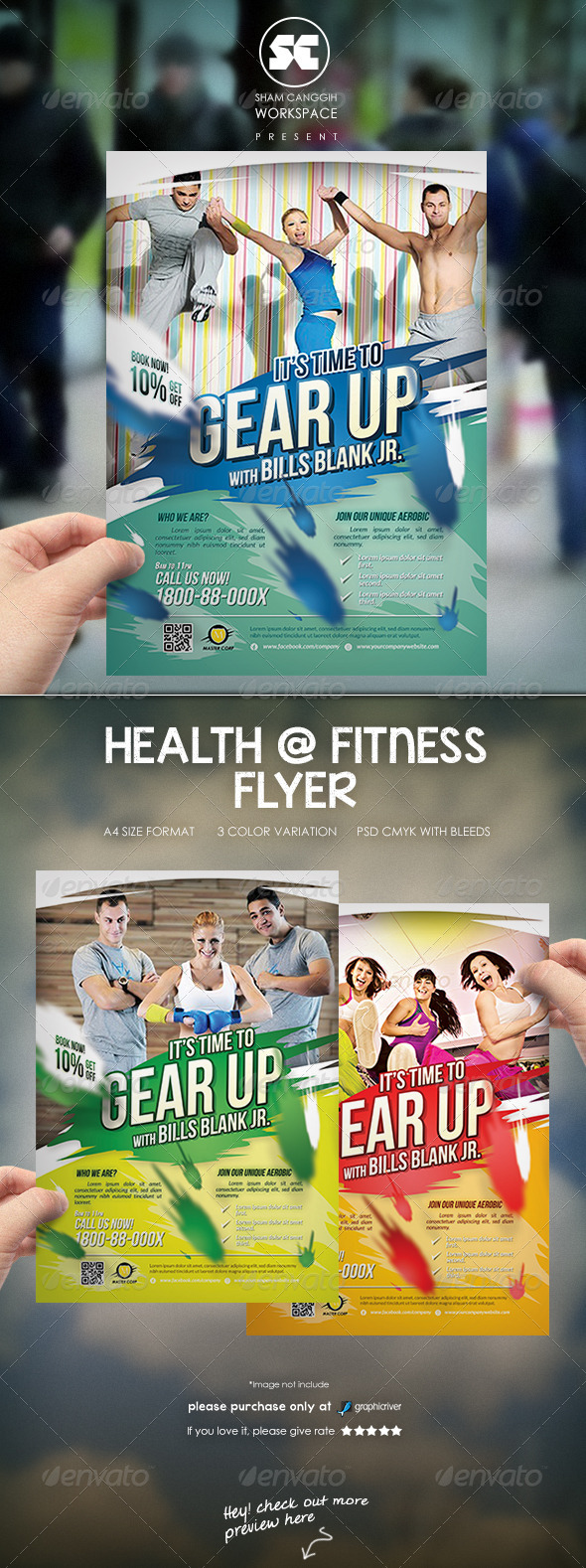 Fitness Sport Flyer / Magazine Ads Template - Sports Events