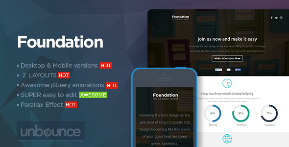 Foundation - Unbounce Non-Profit Landing page - Unbounce Landing Pages Marketing