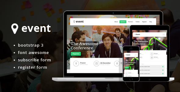 Event – Landing Page