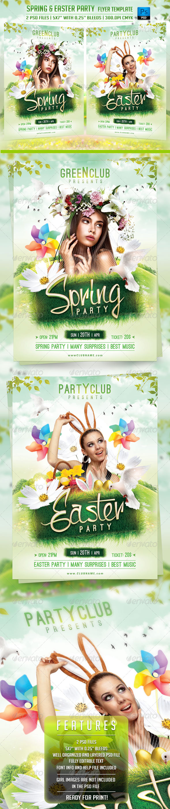 Spring and Easter Flyer Template - Holidays Events