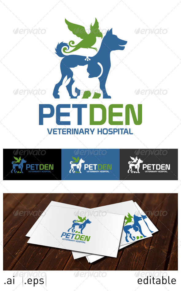 Pet Den Logo Template - Animals Logo Templates