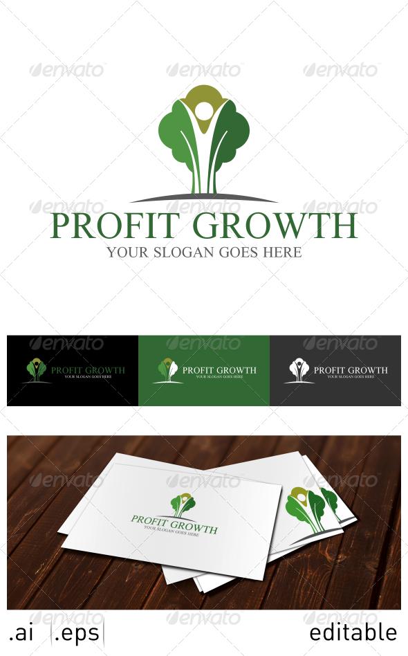 Profit Growth Logo Template - Nature Logo Templates