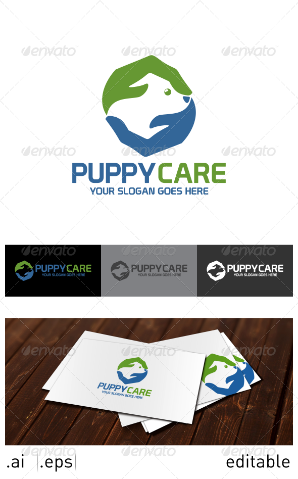 Puppy Care Logo Template - Animals Logo Templates