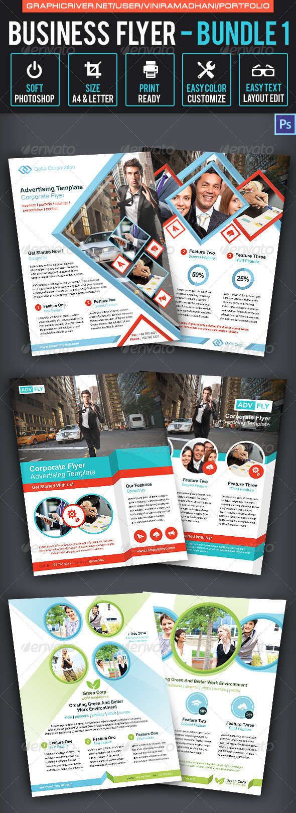 Business Flyer Bundle 1 - Corporate Flyers