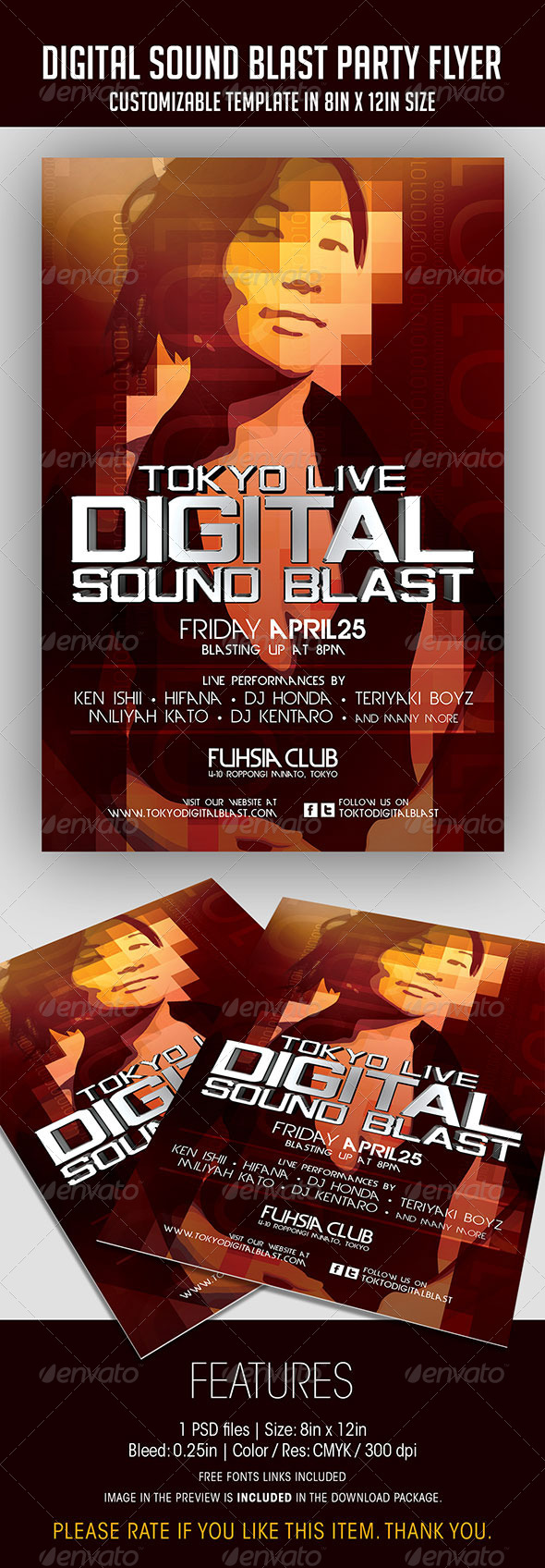 Digital Sound Blast Party Flyer - Clubs & Parties Events