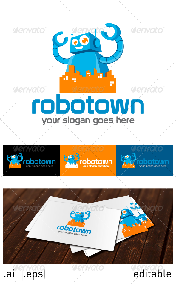 Robotown Logo Template - Objects Logo Templates
